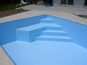 Modification ma onnerie escalier couleurs piscine - Escalier d angle piscine beton ...